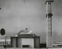 11_Kirche St. Alfons im Winter 1955